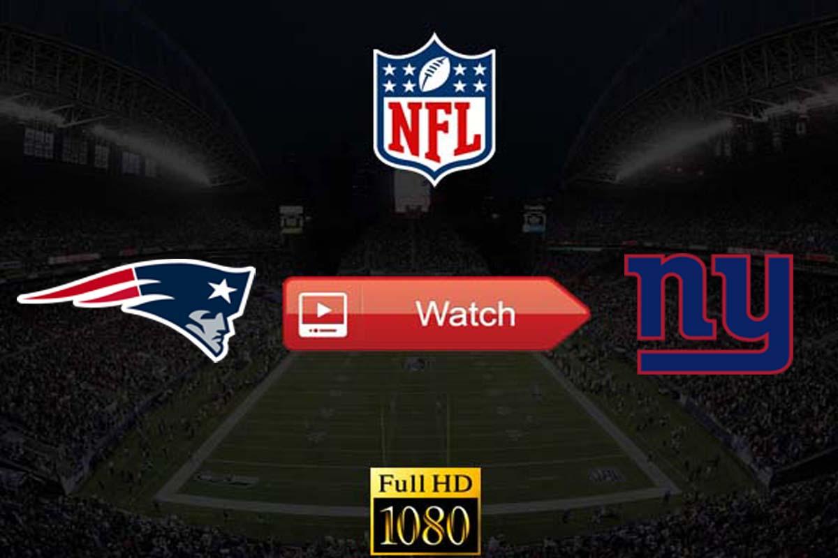 Patriots vs Giants live stream reddit