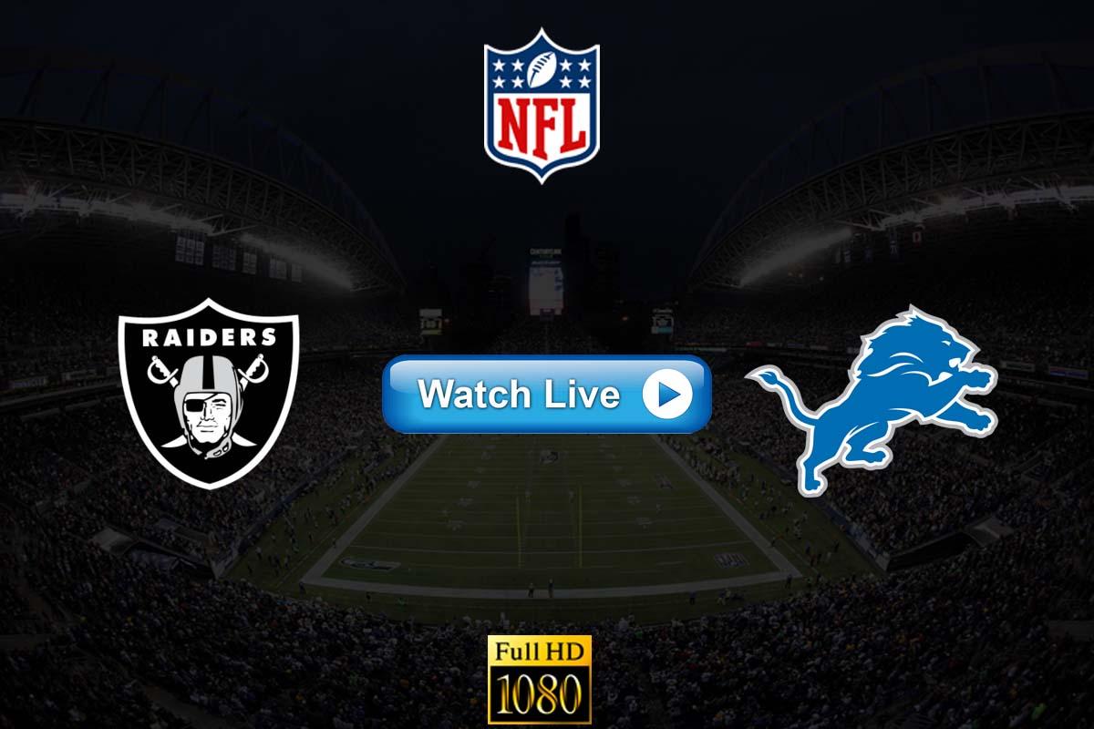 Raiders vs Lions live streaming reddit
