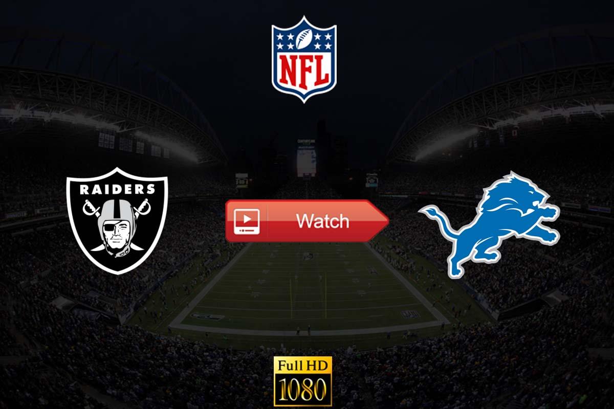 Raiders vs Lions live stream reddit