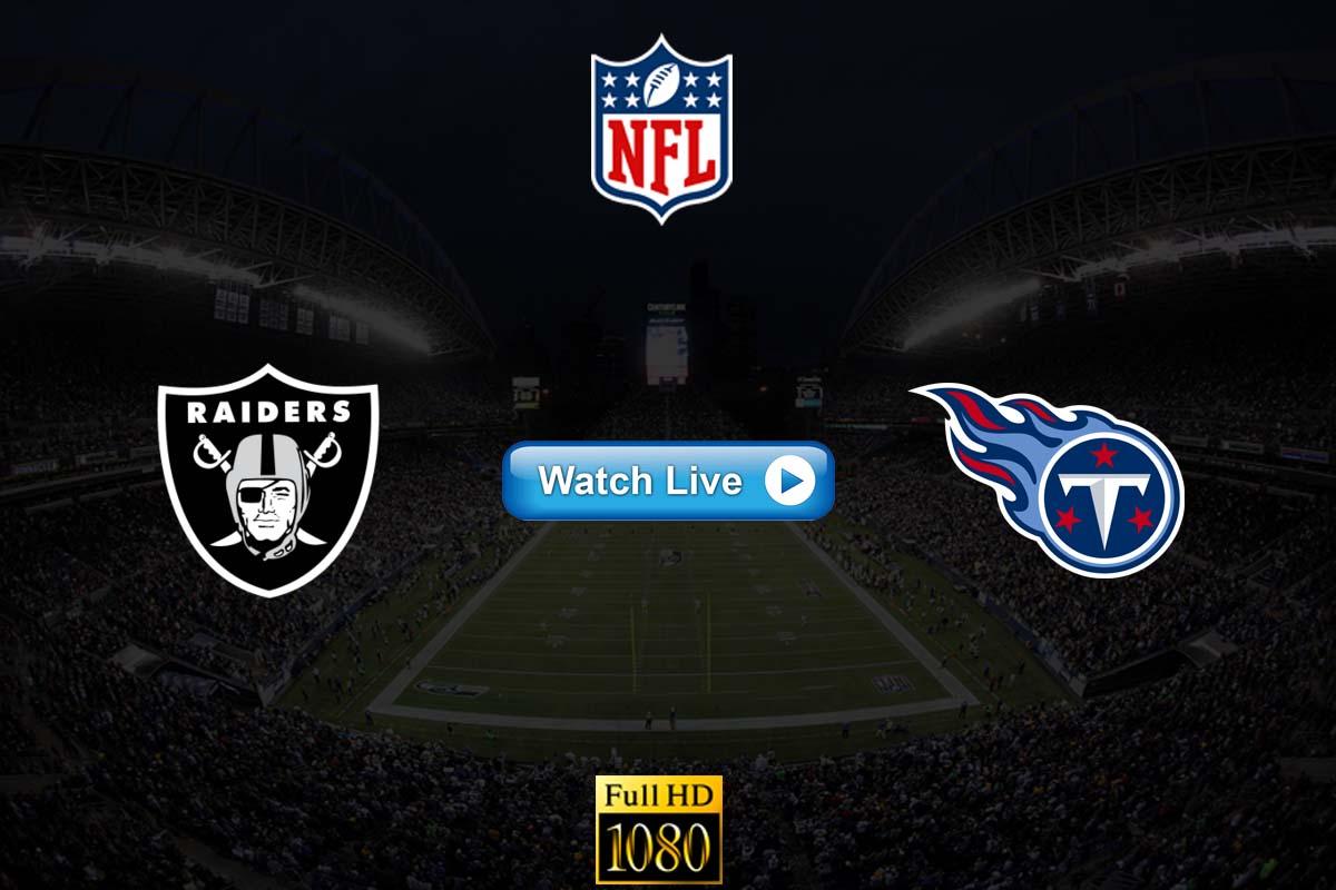 Raiders vs Titans live streaming Reddit