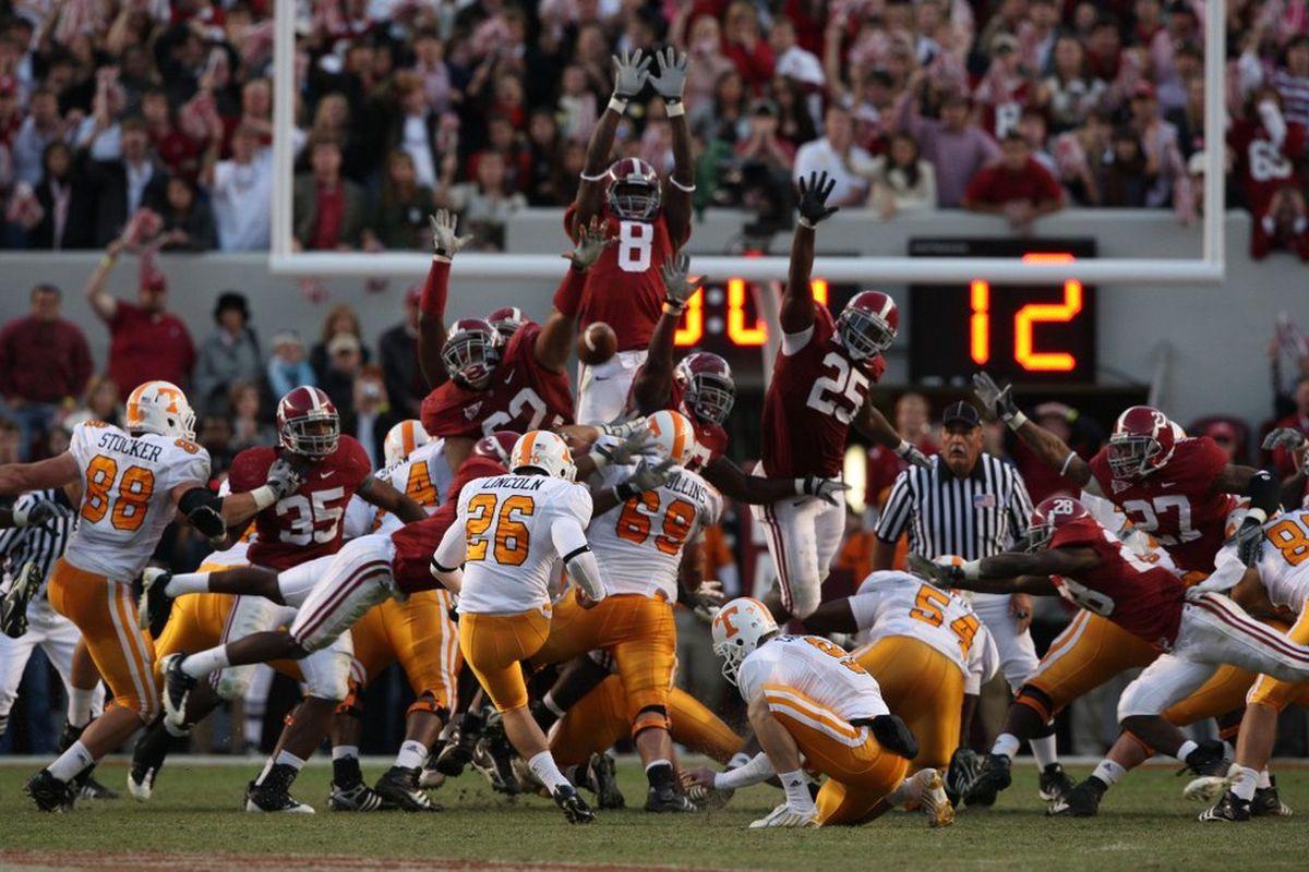 10-Year Anniversary: Cody Blocks Field Goal vs. Vols to Keep Alabama Perfect