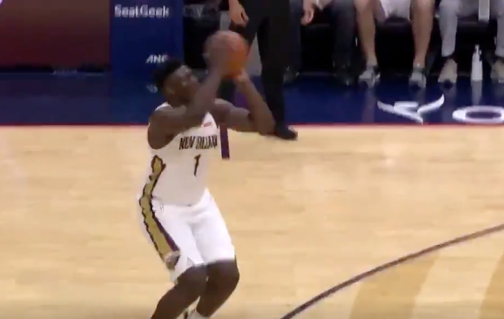 Zion Williamson drains first-ever NBA three-pointer (Video)