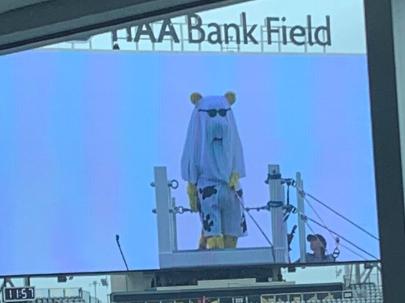 Look: Jaguars mascot hilariously trolls Sam Darnold before game