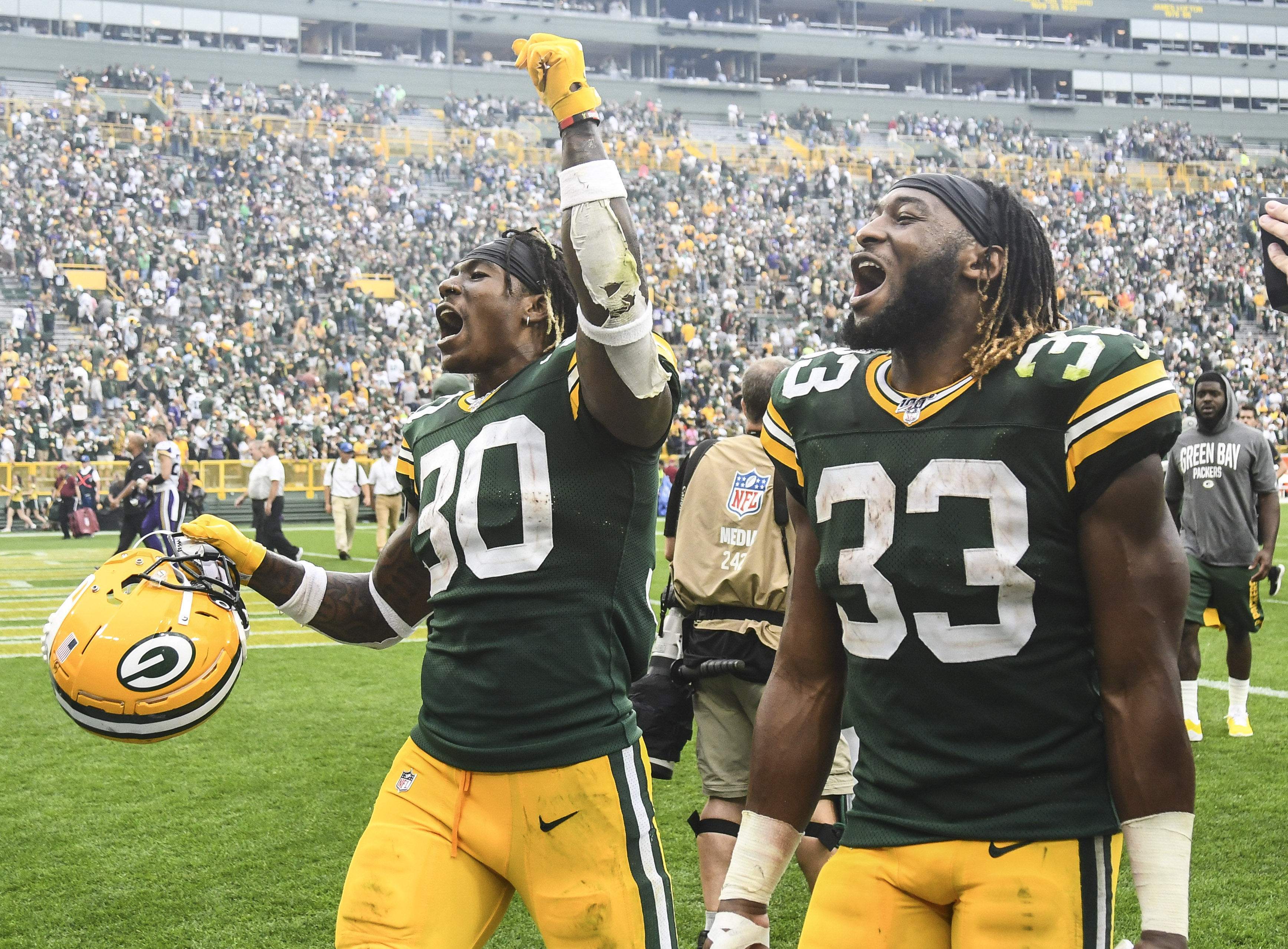 Packers Rushing Attack Has a Strong One-Two Punch with Aaron Jones and Jamaal Williams