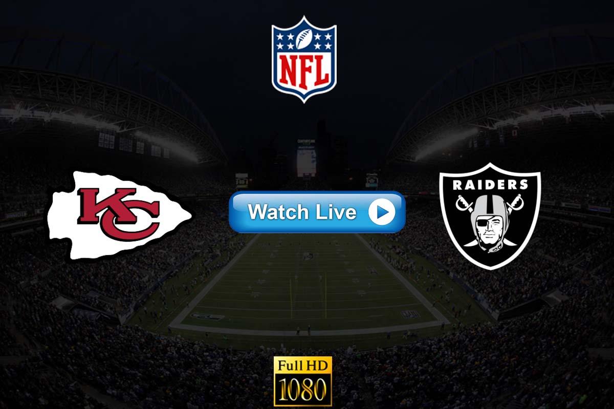 Chiefs vs Raiders live streaming Reddit