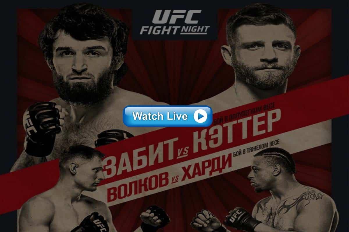 UFC Fight Night 163 live streaming reddit