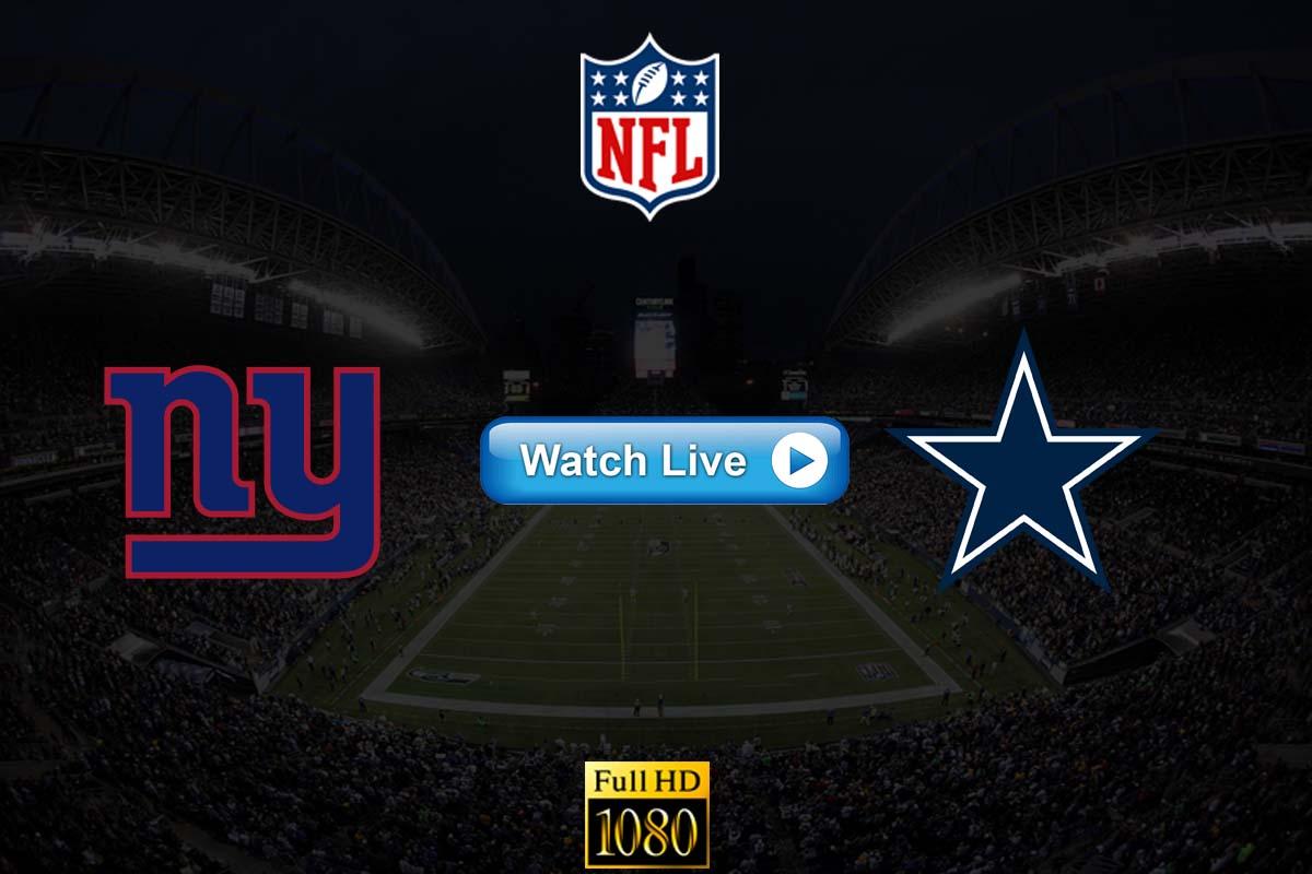Giants vs Cowboys live streaming reddit