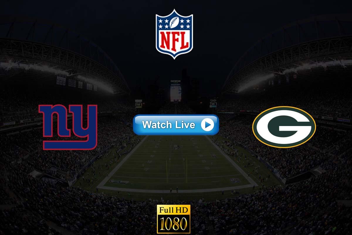 Giants vs Packers live streaming Reddit