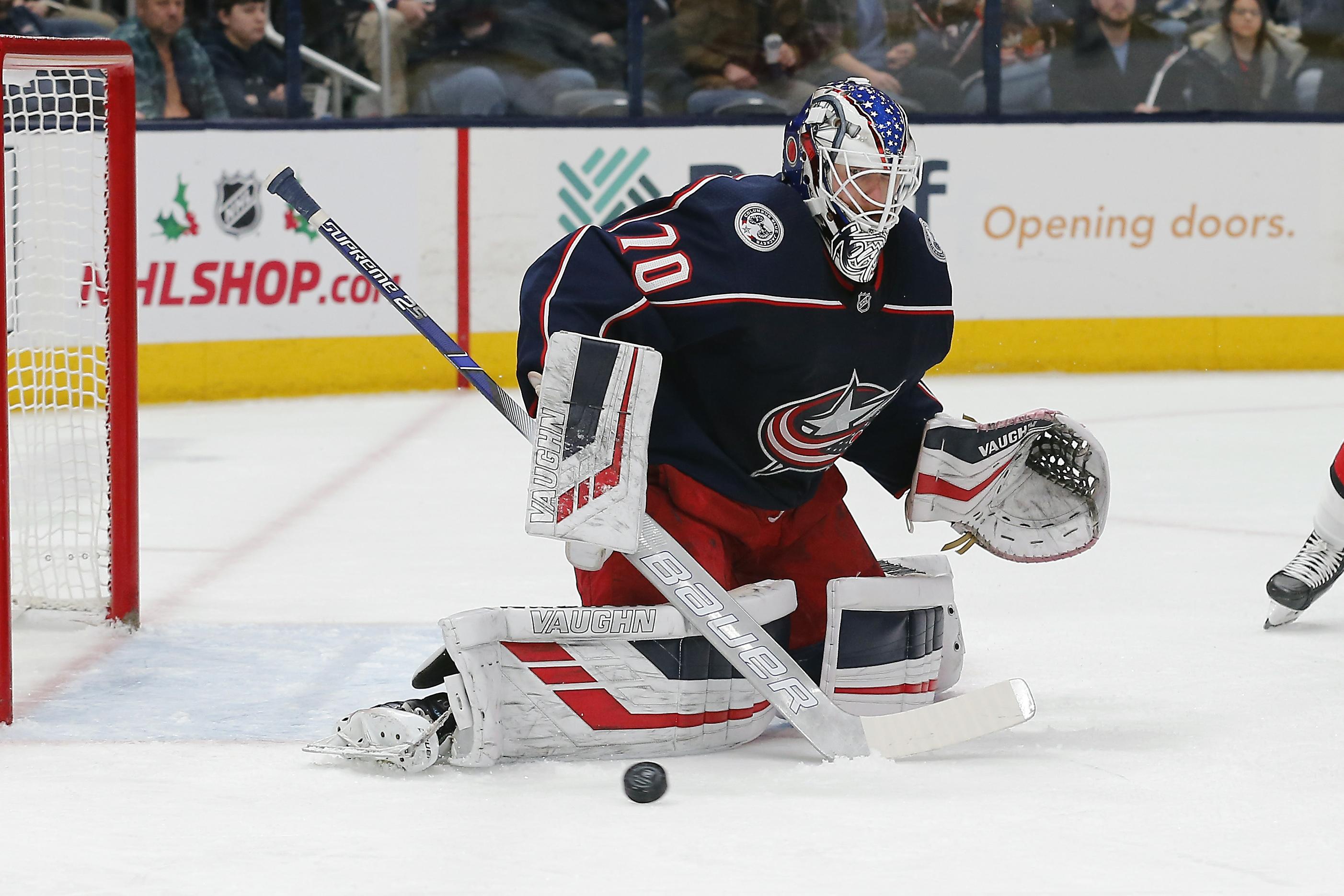 Joonas Korpisalo records second career NHL shutout