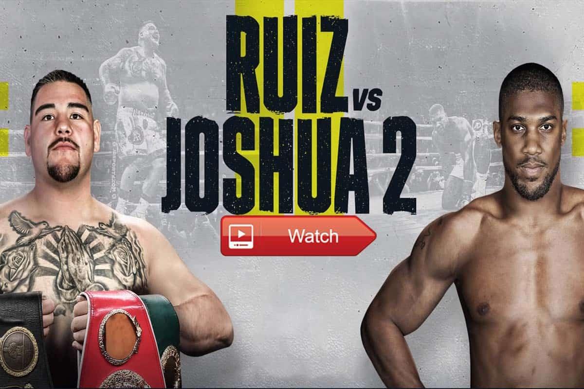 Anthony Joshua vs Andy Ruiz live stream Reddit
