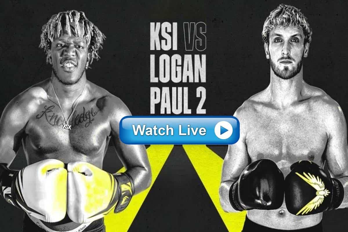 KSI vs Logan Paul 2 live streaming reddit