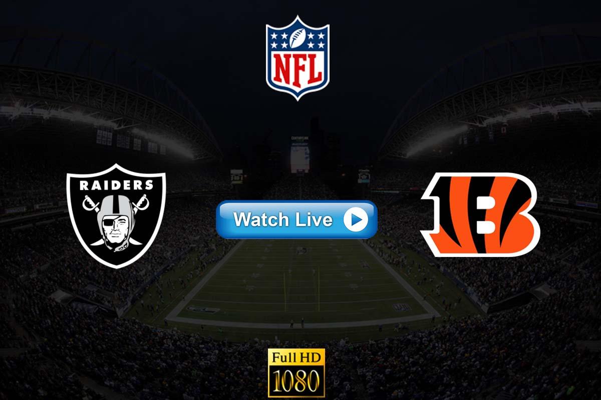 Raiders vs Bengals live streaming reddit