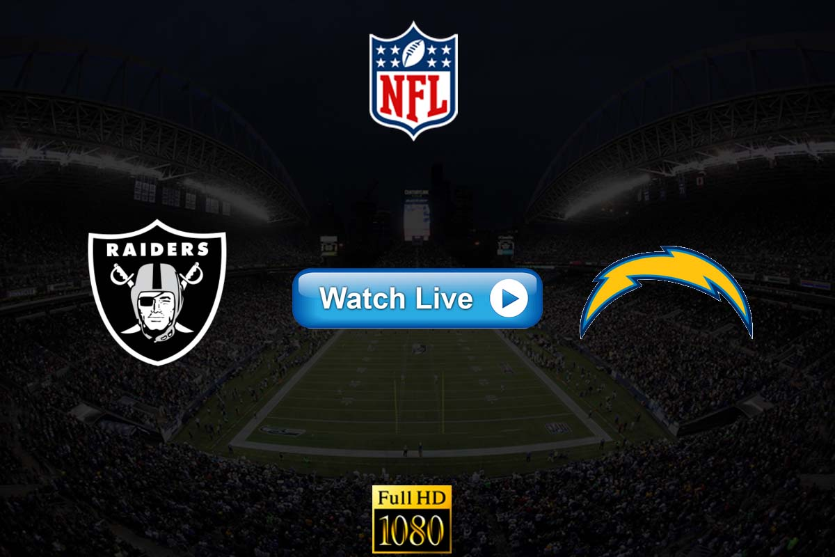 Raiders vs Chargers live streaming reddit