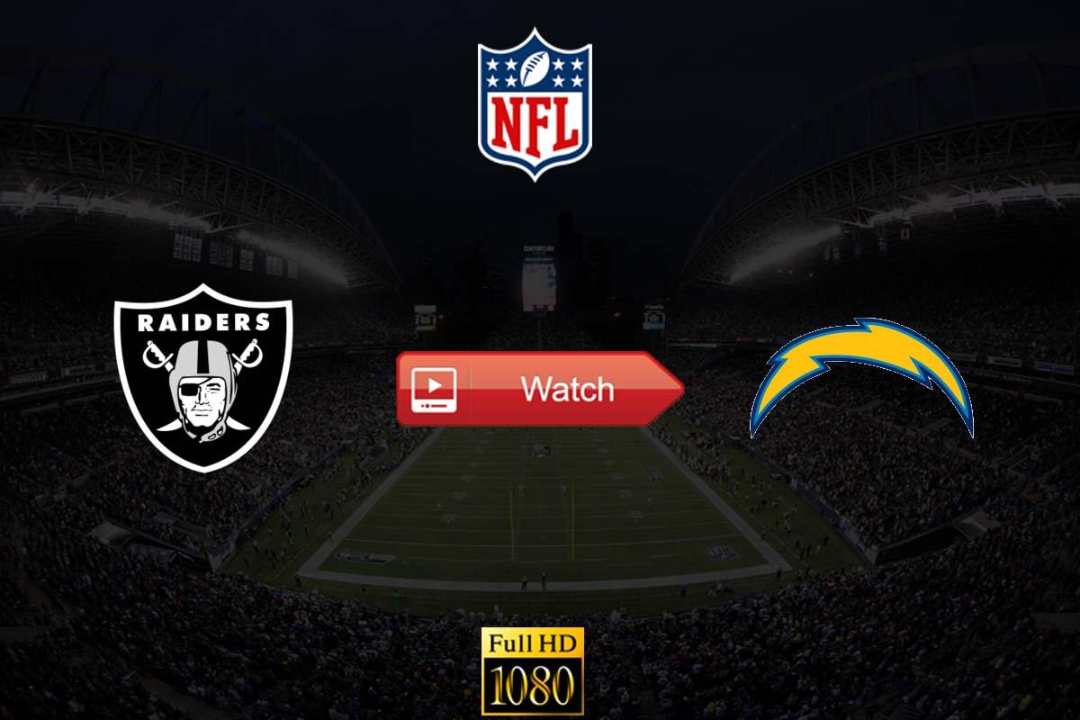 Raiders vs Chargers live stream reddit