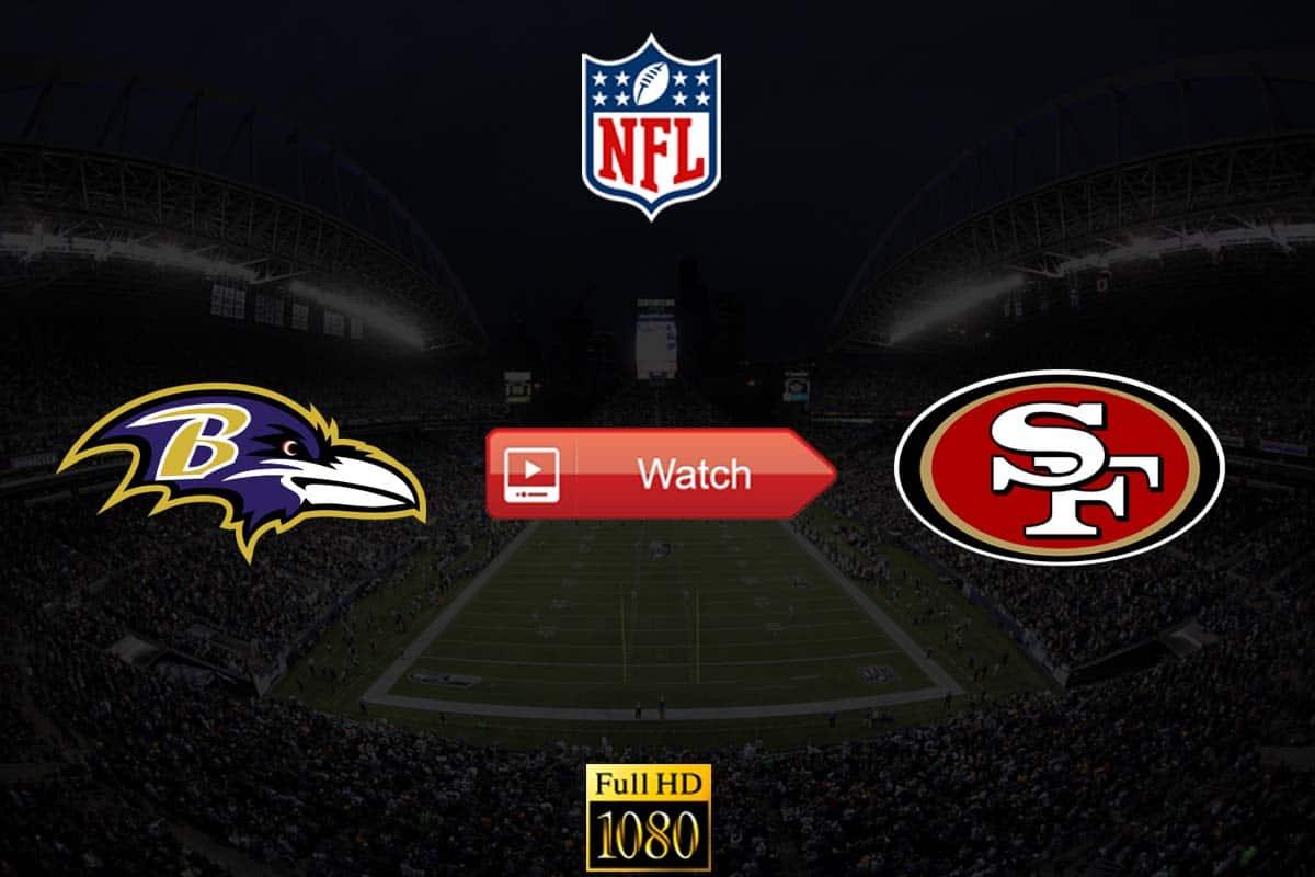Ravens vs 49ers live stream reddit
