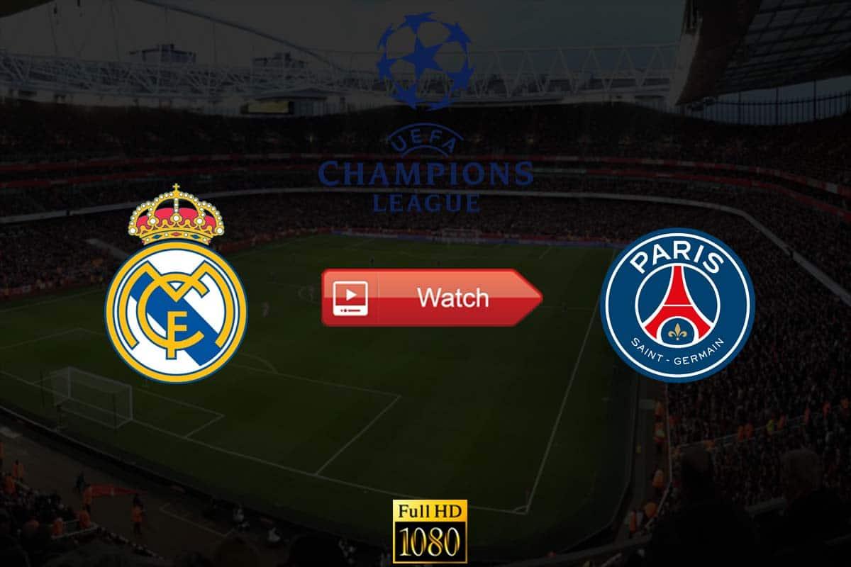 Real Madrid vs PSG live stream Reddit