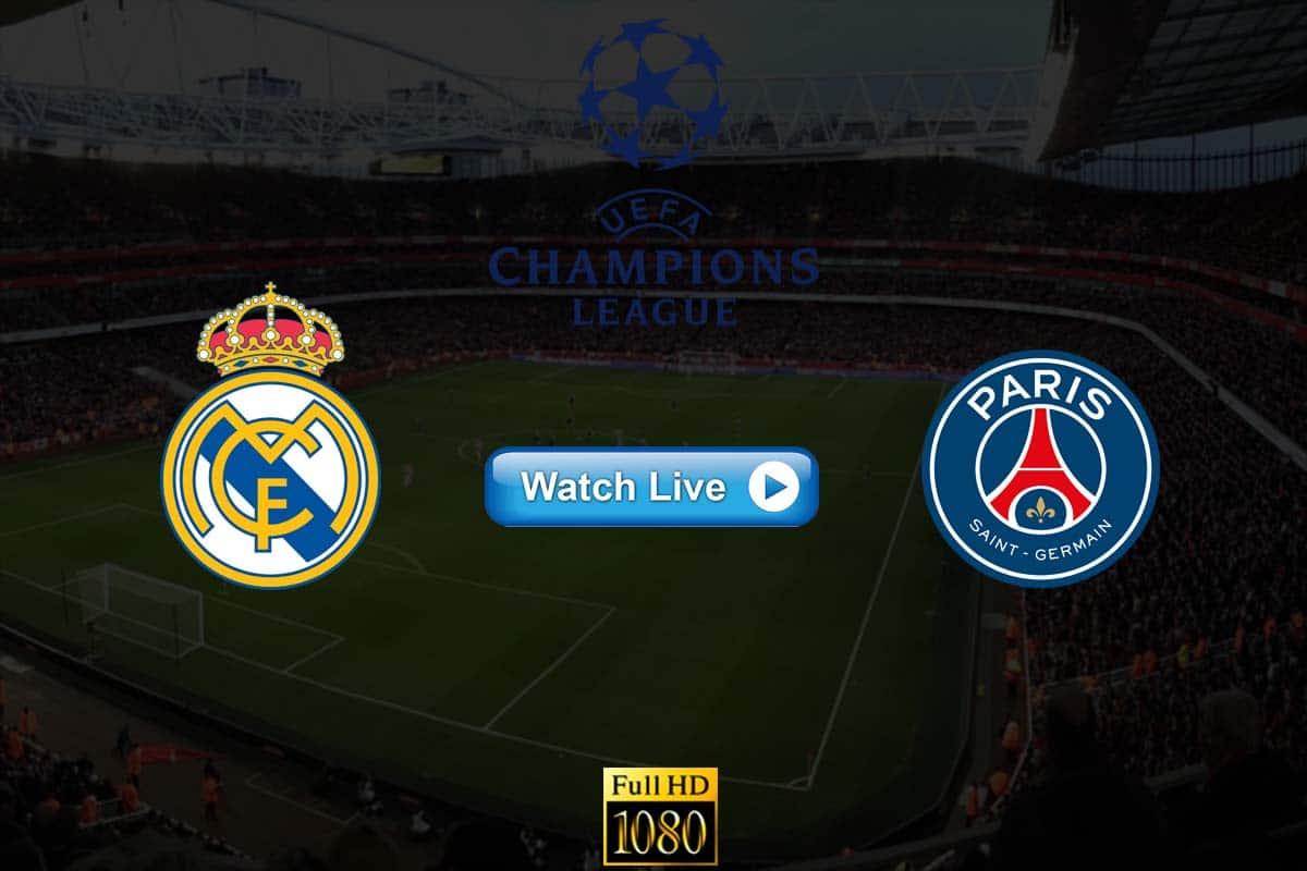 Real Madrid vs PSG live streaming reddit