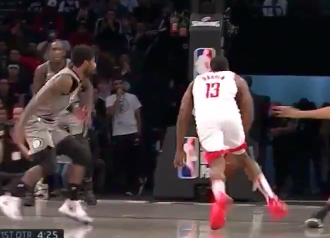 James Harden crosses up Kyrie Irving with sick move, leaves him in the dust (Video)