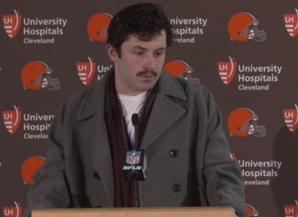Look: Baker Mayfield roasted for funny outfit and mustache, gets meme treatment