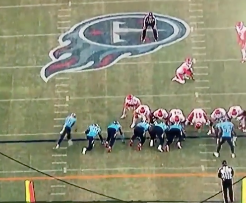 Watch: Chiefs screwed by blatant offside before Titans block game-tying field goal