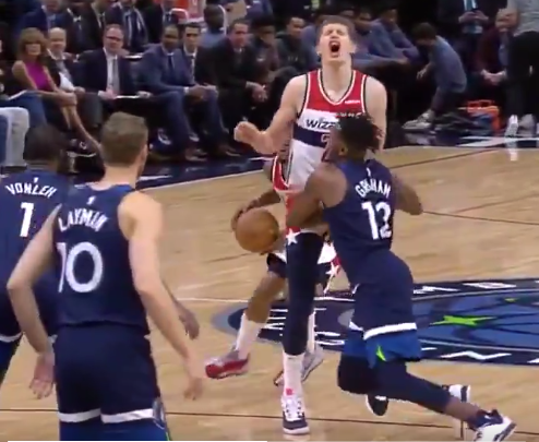 Mo Wagner gets drilled in groin during game (Video)