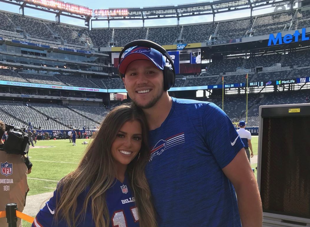 Look: Josh Allen's beautiful brunette girlfriend Brittany Williams is a stunner