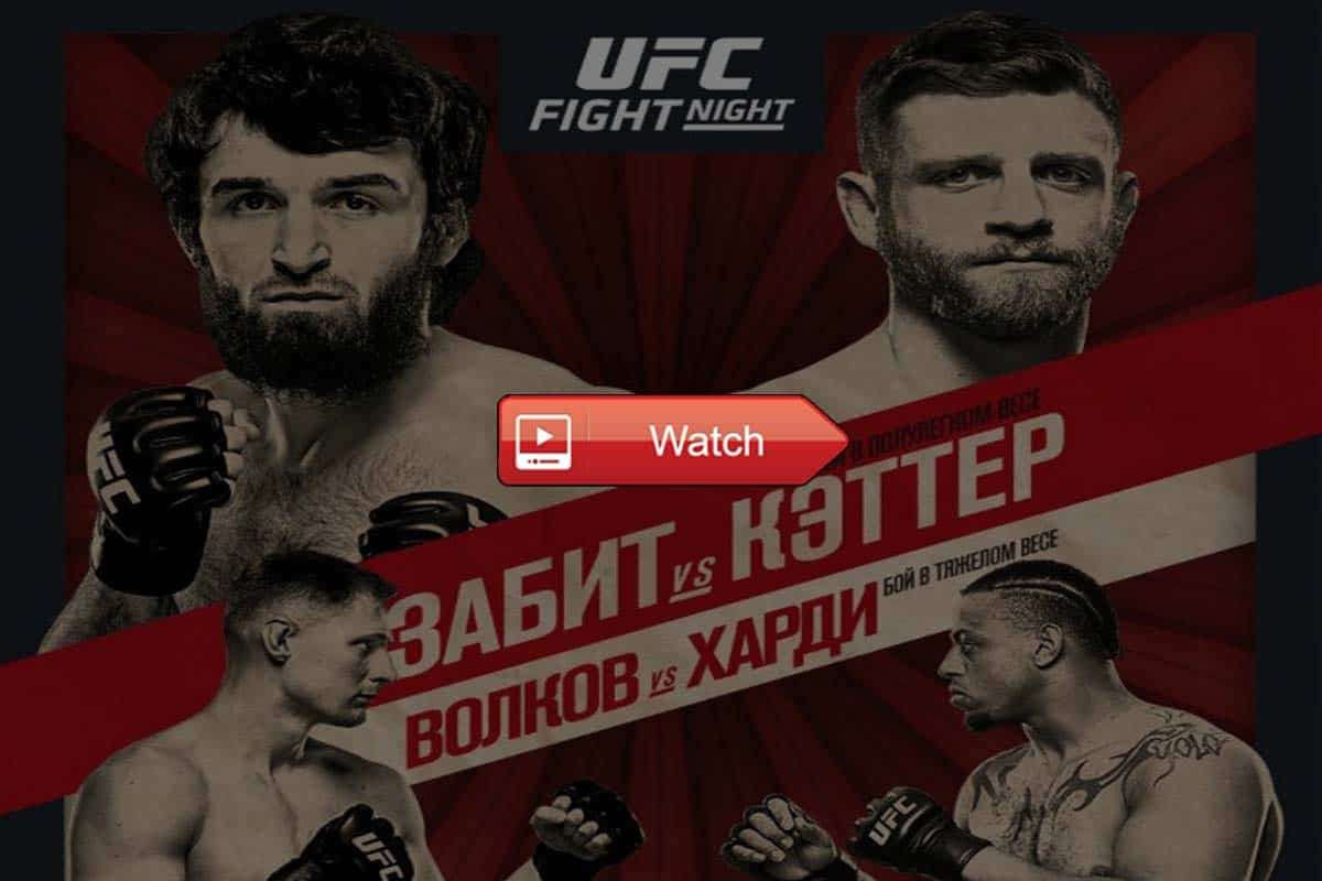 UFC Fight Night 163 live stream reddit