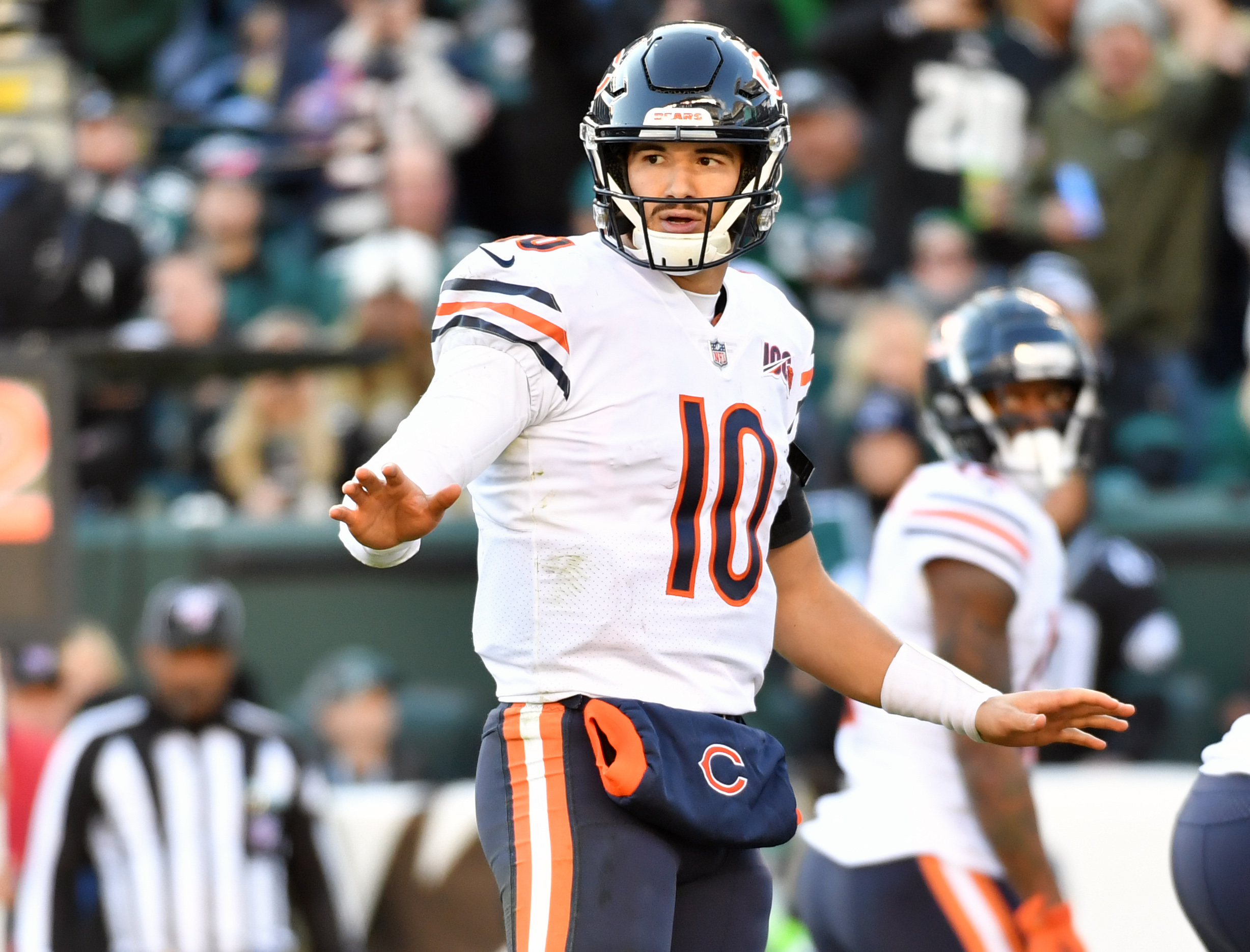 Mitchell Trubisky says he's tired of listening to people criticize Bears on TV