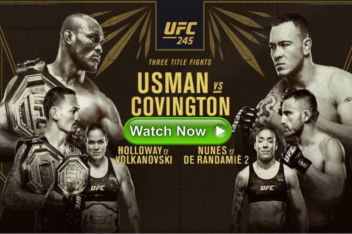 UFC 245 live streaming Reddit