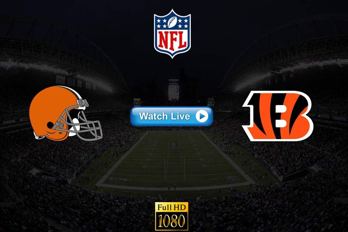 Browns vs Bengals live streaming Reddit