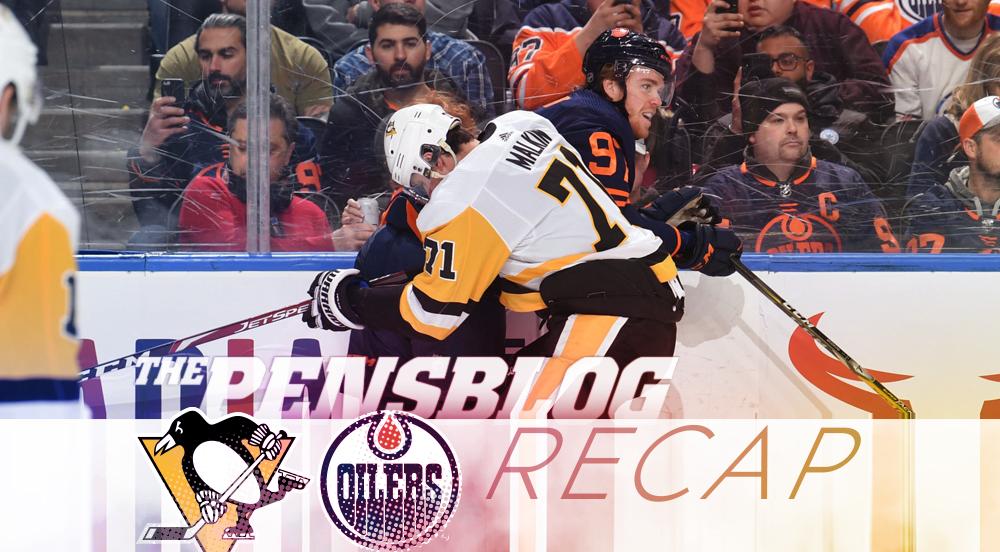 RECAP 35: Penguins Threaten Oil More Than Windmills, Top Oilers 5-2