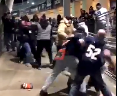 Cowboys, Bears fans get into epic fight in stadium after game (Video)