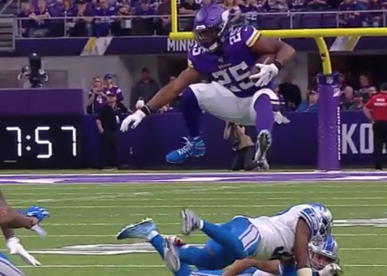 Alex Mattison takes flight, perfectly hurdles Lions defender (Video)