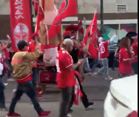 49ers fans invade New Orleans streets, chant 'We Dat!' continuously (Video)
