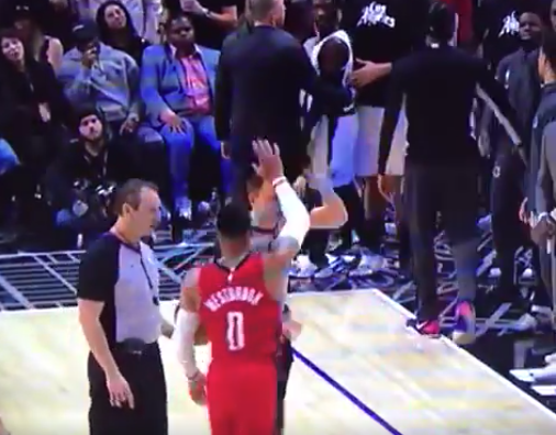 Russell Westbrook taunts Patrick Beverley after ejection (Video)