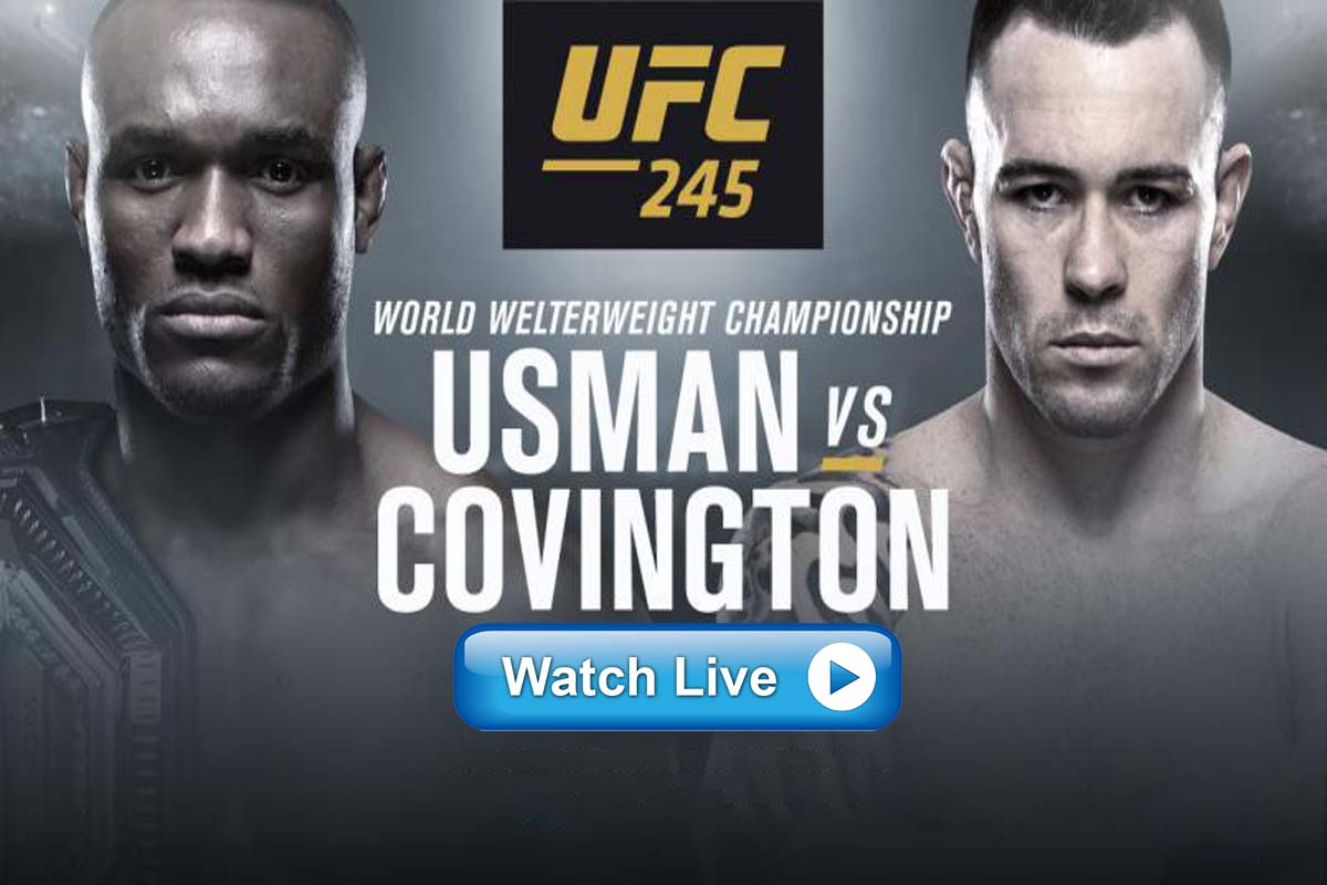 Usman vs Covington live streaming Reddit