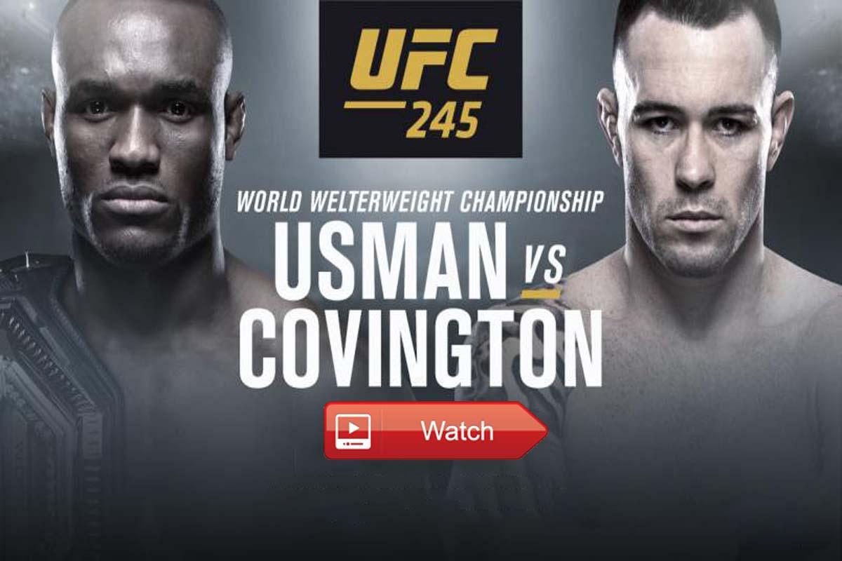 Usman vs Covington live stream Reddit