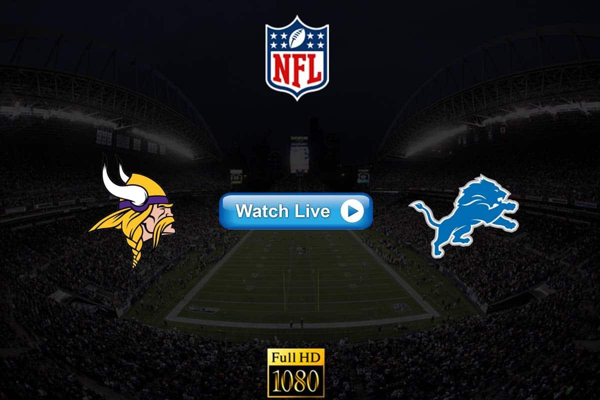 Vikings vs Lions live streaming reddit