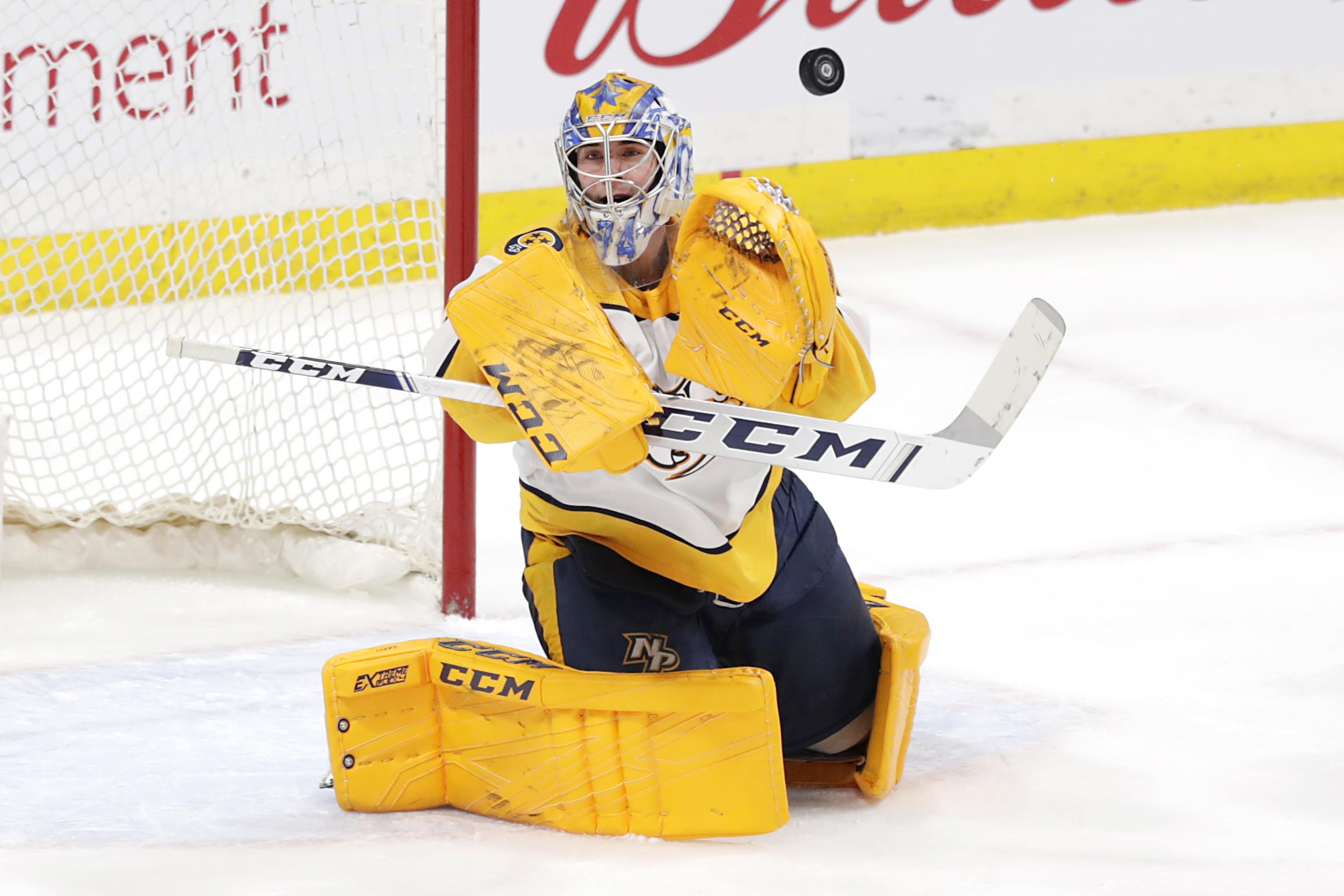 Juuse Saros records eighth NHL career shutout