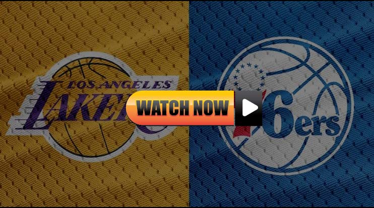 Lakers vs 76ers live streaming Reddit