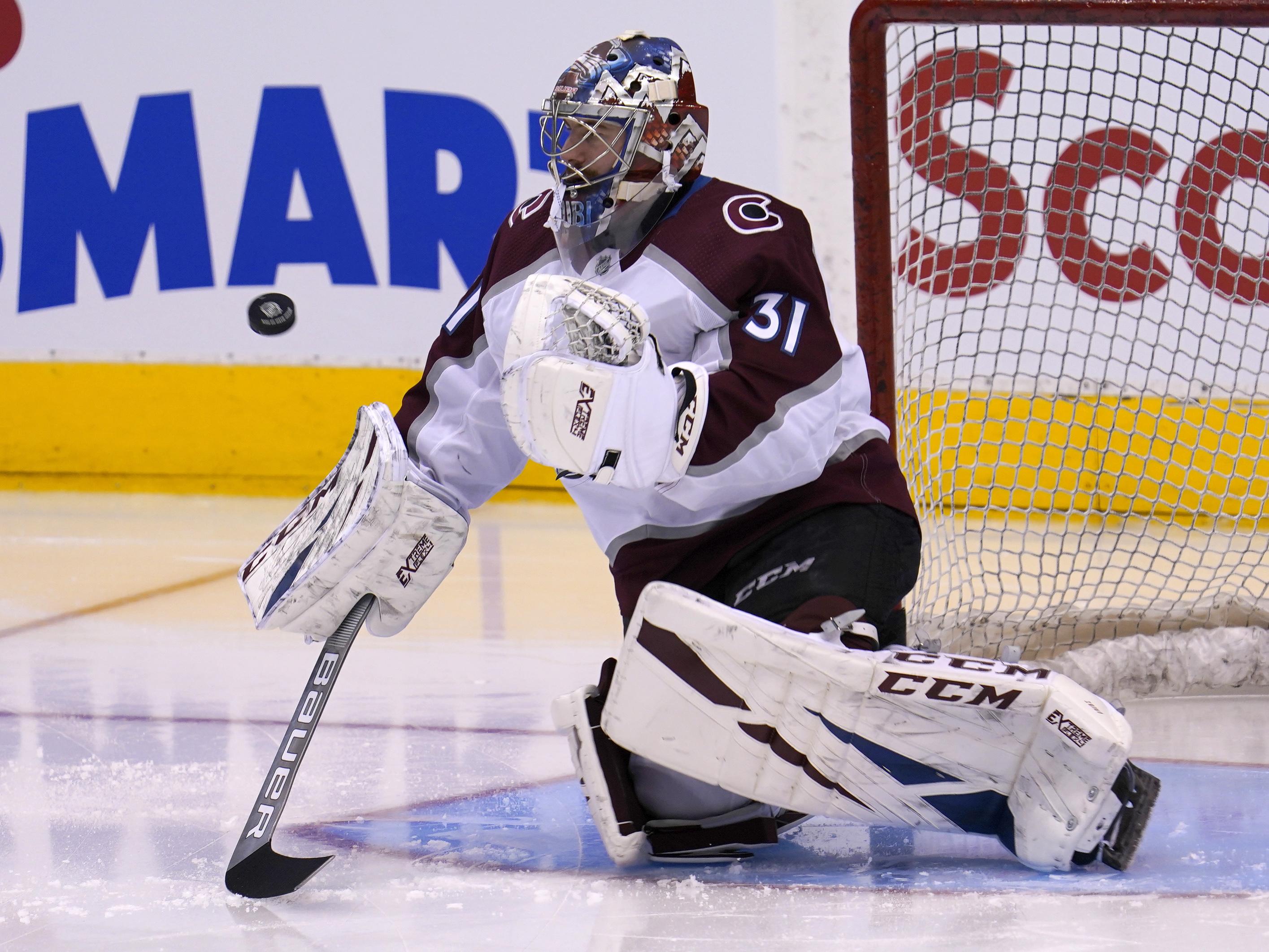 Philipp Grubauer registers 10th career NHL shutout