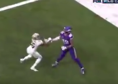 Saints screwed by refs on no-call for OPI, helping Vikings get walk-off win