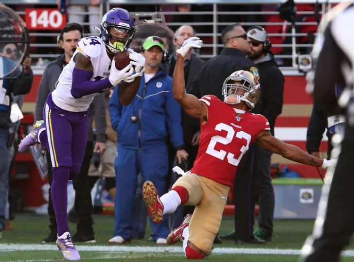 Ahkello Witherspoon embarrassed by Stefon Diggs on TD (Video)