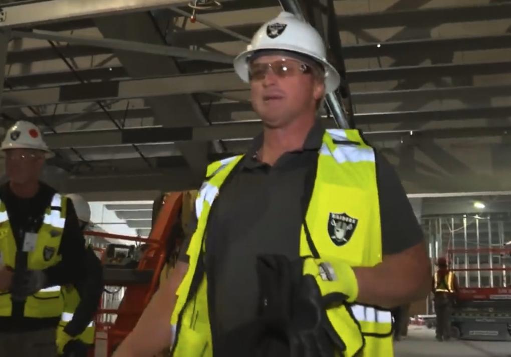 Jon Gruden tours Raiders new stadium ahead of inaugural season in Las Vegas