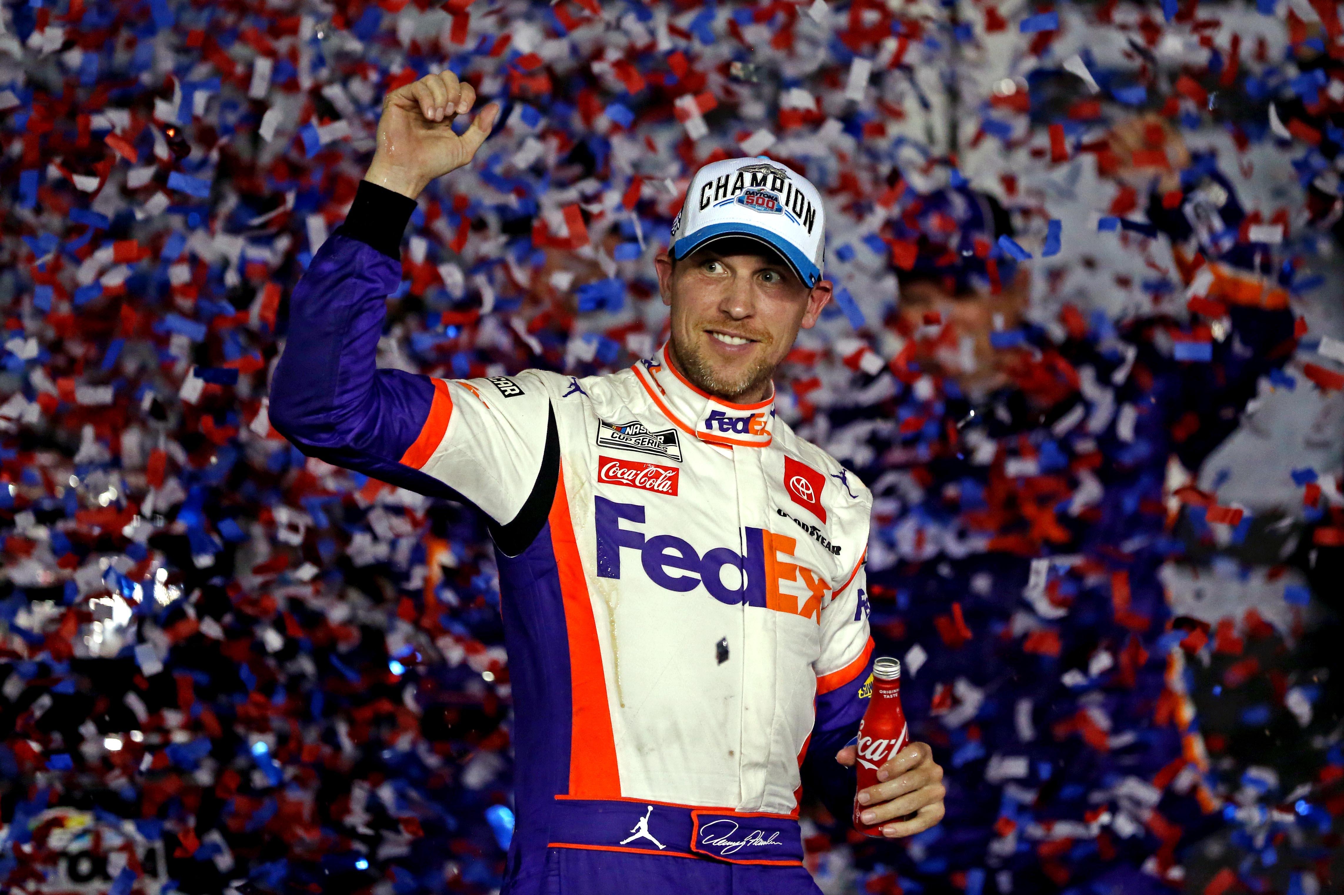 Denny Hamlin wins second closest Daytona 500 of all-time