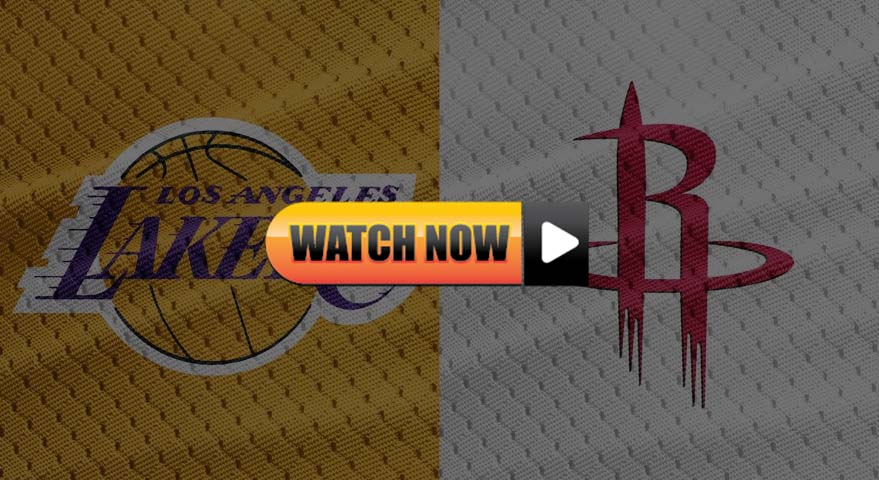 Lakers vs Rockets live stream Reddit
