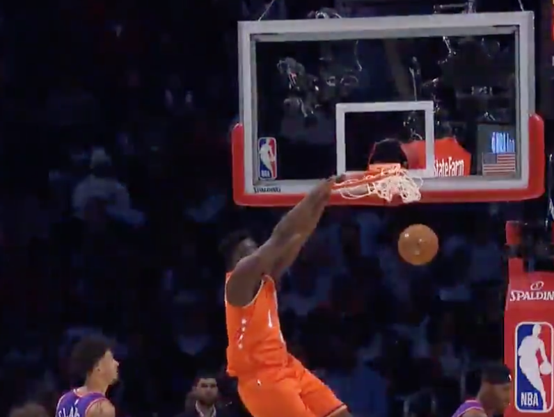 Zion Williamson breaks rim with massive dunk in Rising Stars Challenge (Video)