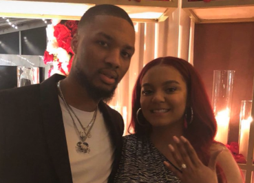 Damian Lillard gets engaged to beautiful girlfriend Kay'La Hanson (Video)