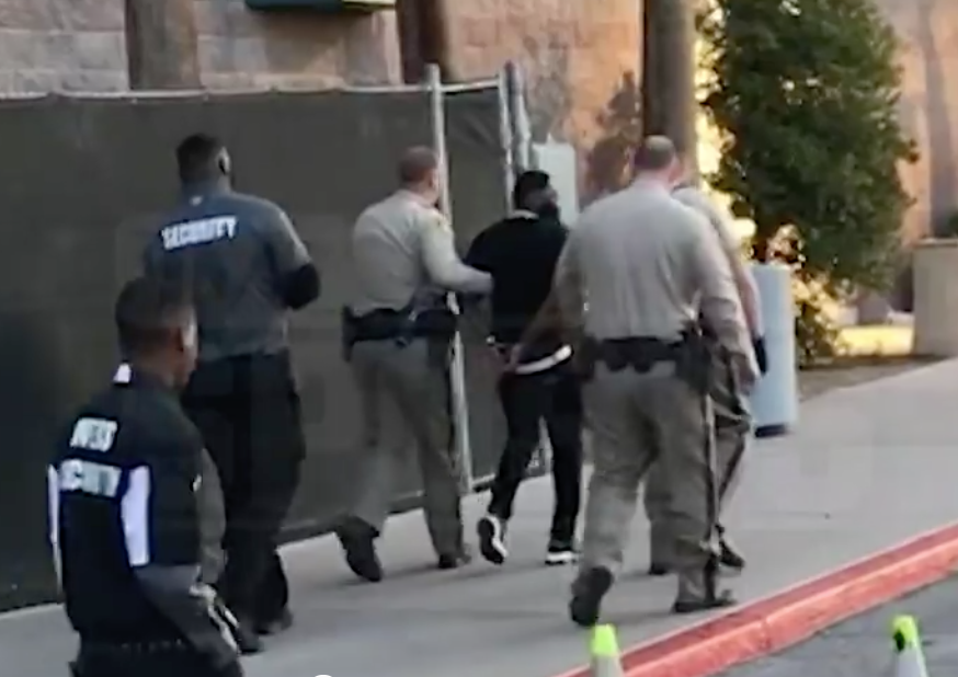 Video of Adrien Broner getting arrested at Deontay Wilder, Tyson Fury weigh-in surfaces
