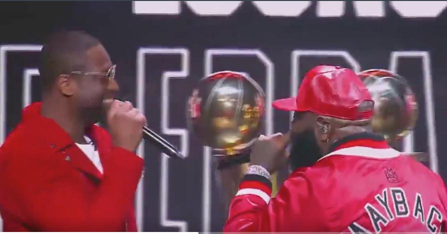 Dwyane Wade, Rick Ross perform new single 'Season Ticket Holder' before Heat game (Video)
